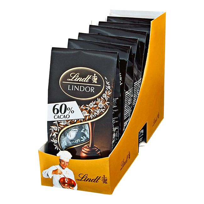 Lindt Lindor Dark 60% Beutel 99 g, 6er Pack - Bild 1