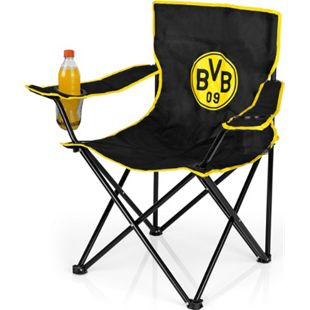 BVB Campingstuhl faltbar 80x50cm schwarz/gelb mit Logo - Bild 1