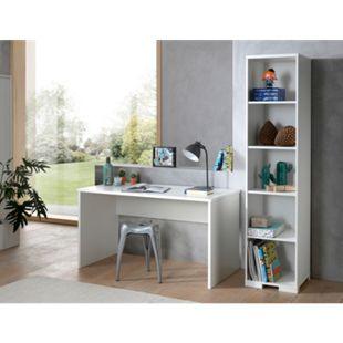 Vipack LONDON Jugendzimmer Set 2-tlg. best. aus: Schreibtisch, Regal, Ausf. Dekor Weiß, Absatz Buche natur massiv - Bild 1