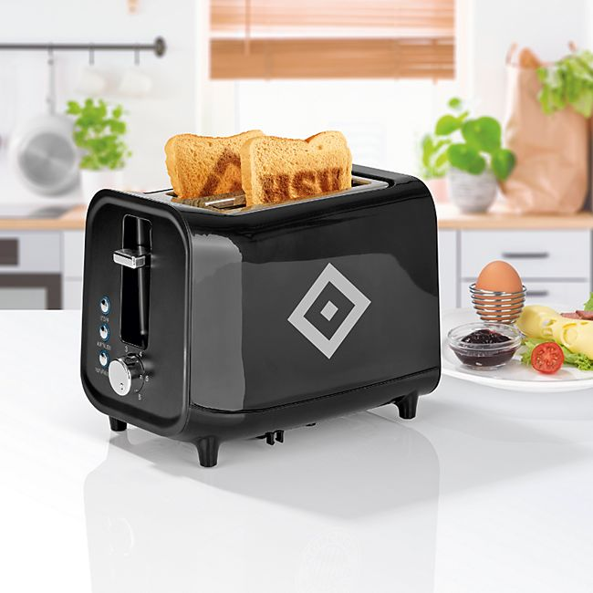 HSV Toaster mit Soundfunktion 800W schwarz/silber - Bild 1