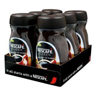 Nestle Nescafe Classic 200 g, 6er Pack - Bild 1