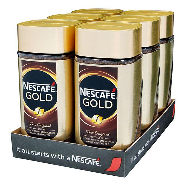 Nestle Nescafe Gold 200 g, 6er Pack - Bild 1