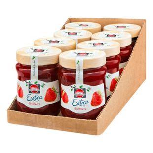 Schwartau Extra Konfitüre Erdbeer 340 g, 8er Pack - Bild 1