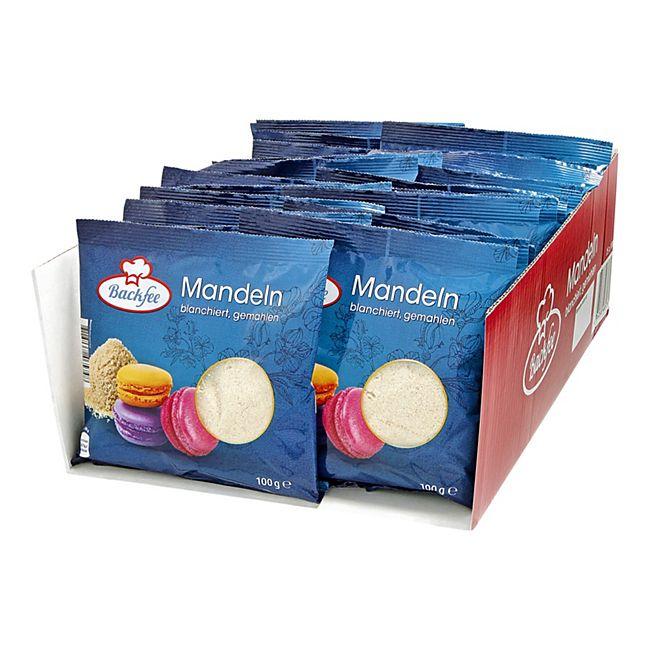 Backfee Mandeln gemahlen, blanchiert 100 g, 25er Pack - Bild 1