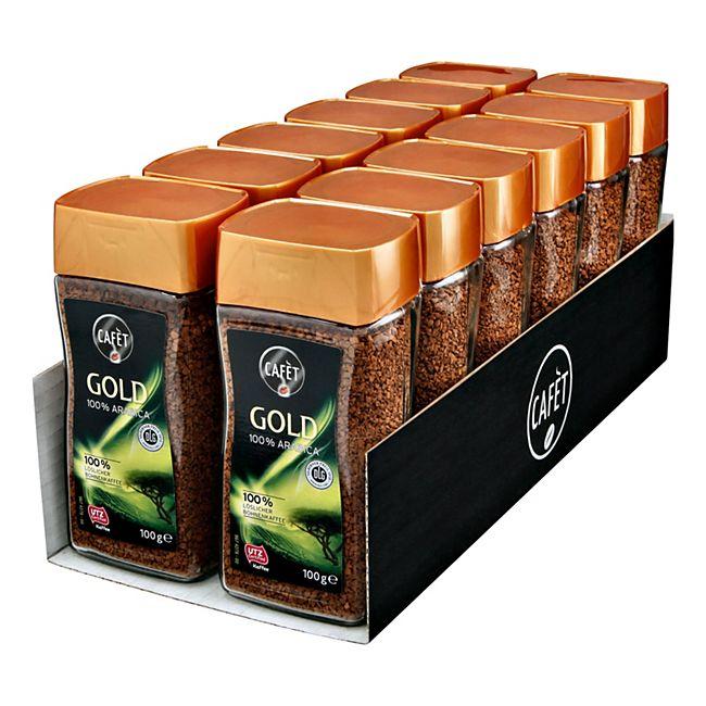 Cafet Instantkaffee Gold 100 g, 12er Pack - Bild 1