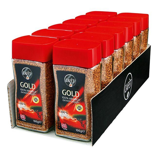 Cafet Kaffee Gold entkoffeiniert 100 g, 12er Pack - Bild 1