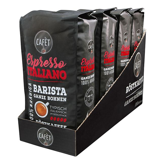 Cafet Espresso Ganze Bohnen 1000 g, 4er Pack - Bild 1