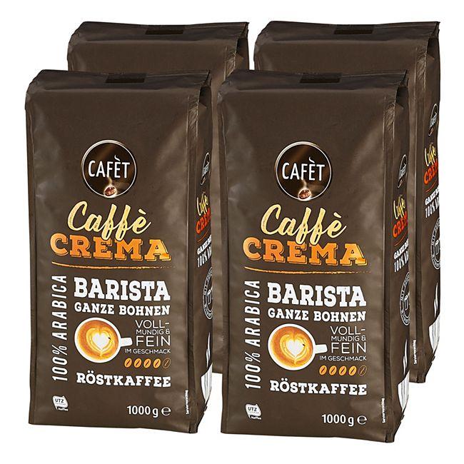 Cafet Cafe Crema Ganze Bohne 1000 g, 4er Pack - Bild 1
