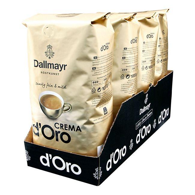 Dallmayr Crema dOro ganze Kaffeebohnen 1 kg, 4er Pack - Bild 1