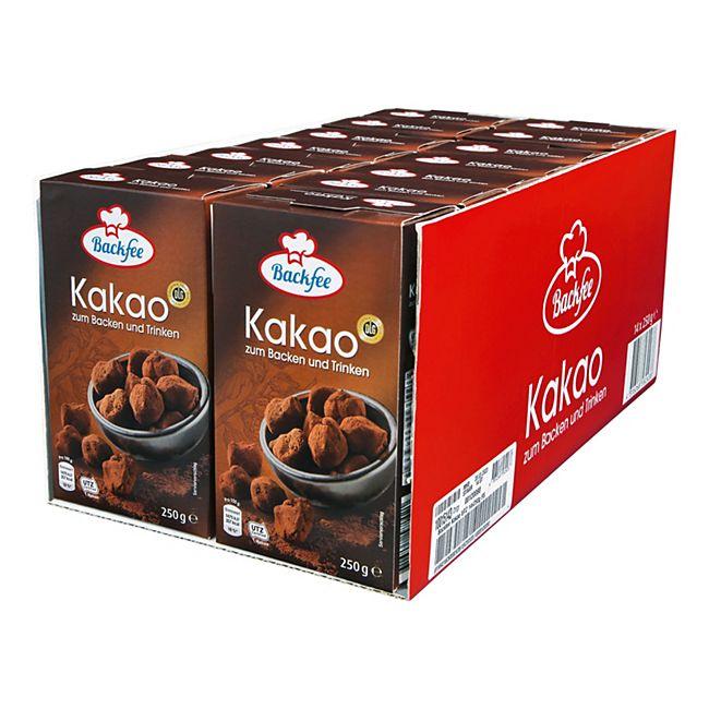Backfee Kakao 250 g, 14er Pack - Bild 1