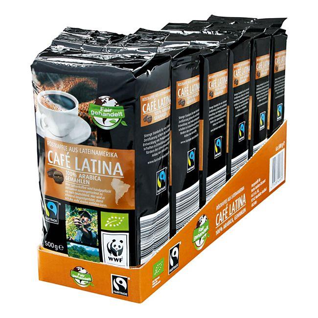 Bio Fairtrade Cafe Latina 500 g, 6er Pack - Bild 1