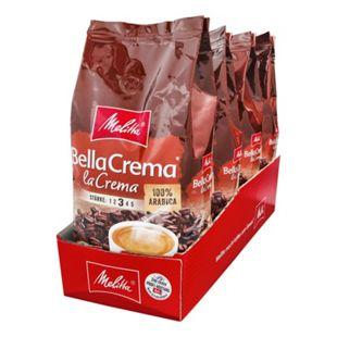 Melitta Bella Crema La Crema ganze Bohne 1000 g, 4er Pack - Bild 1