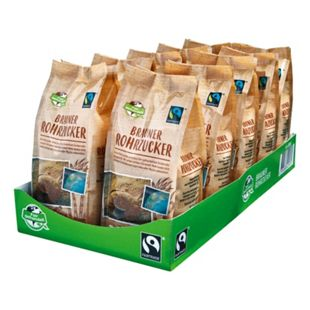 Fair Trade Brauner Rohrzucker 500 g, 10er Pack - Bild 1