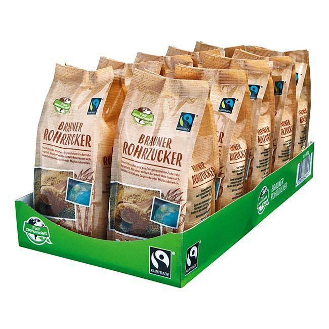 Fair Trade Brauner Rohrzucker 500 g, 10er Pack - Bild 1