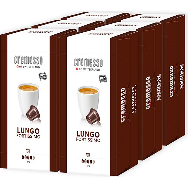 Cremesso Fortissimo Lungo Kaffee 96 g, 6er Pack - Bild 1