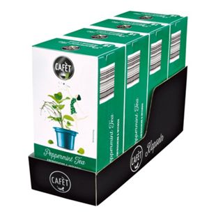 Cafet für Cremesso Pfefferminz Tee 33,6 g, 4er Pack - Bild 1