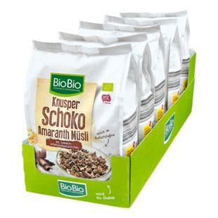 BioBio Knusper Schoko Amaranth Müsli 500 g, 5er Pack - Bild 1