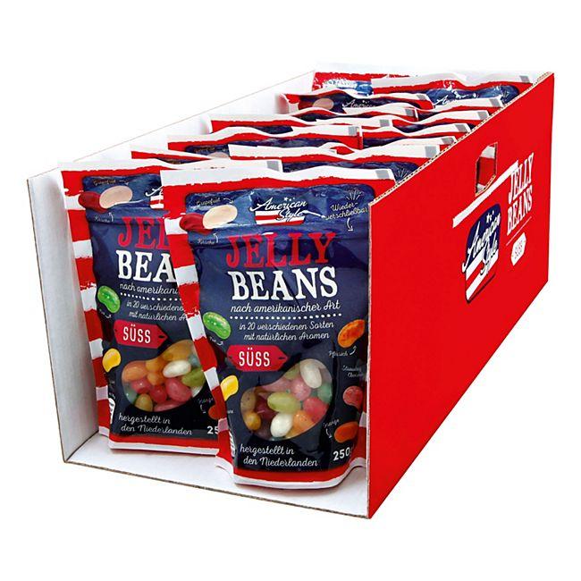 American Style Jelly Beans 250 g, 14er Pack - Bild 1