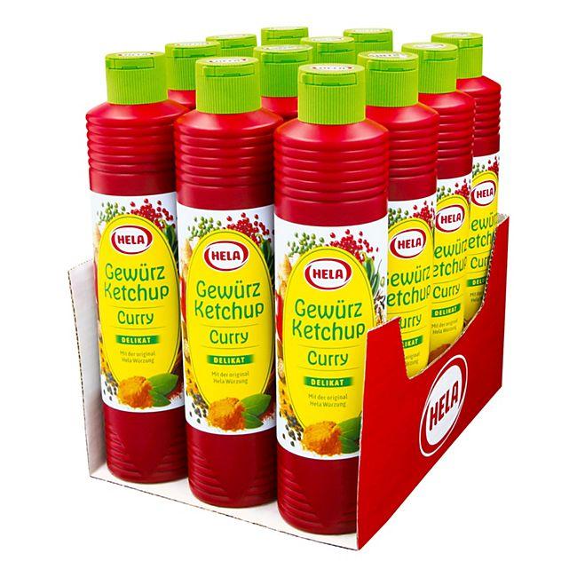 Hela Gewürz Ketchup Curry delikat 800 ml, 12er Pack - Bild 1
