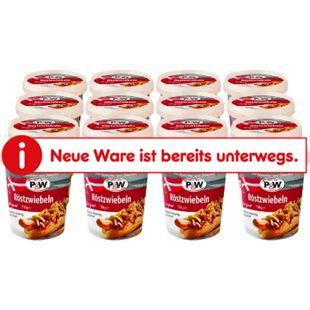P & W Röstzwiebeln 150 g, 16er Pack - Bild 1