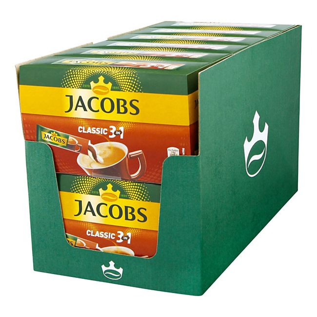 Jacobs Kaffeesticks 3in1 180 g, 12er Pack - Bild 1