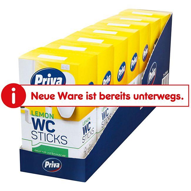 Priva WC- Stick Lemon 4 x 40 g, 7er Pack - Bild 1