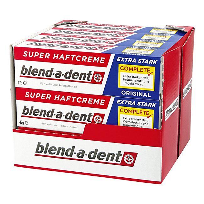 Blend-a-dent Super-Haftcreme Extra Stark 47 g, 12er Pack - Bild 1