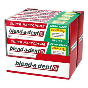 Blend-a-dent Super-Haftcreme Neutral 47 g, 12er Pack - Bild 1