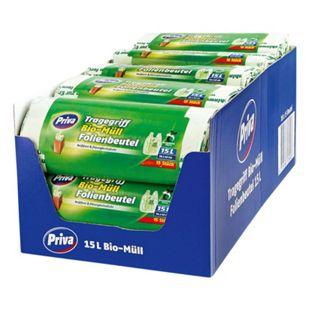 Priva Bio-Folienmüllbeutel 15 x 15 L, 18er Pack - Bild 1