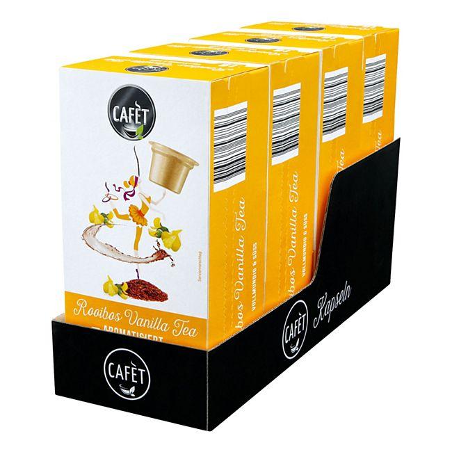 Cafet für Cremesso Rooibos Vanilla Tea 16 Kapseln 32 g, 4er Pack - Bild 1