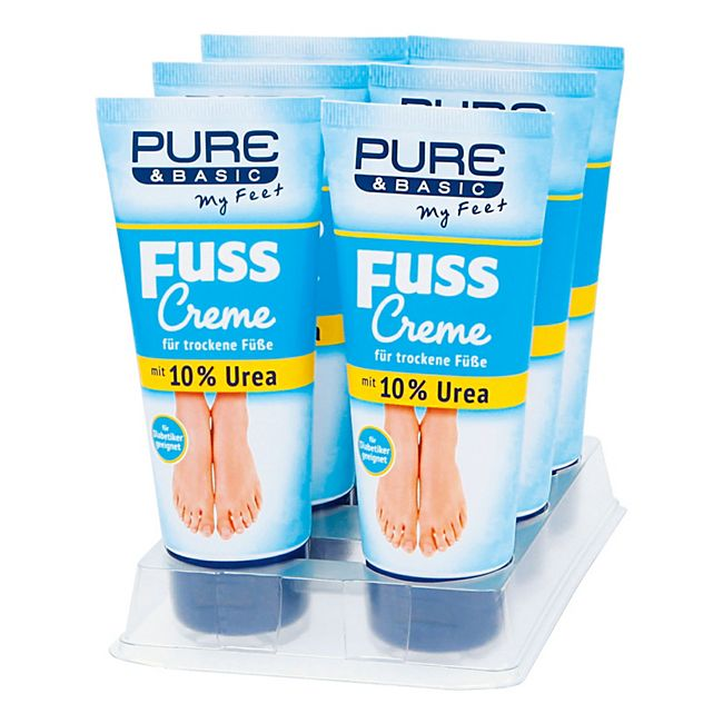 Pure & Basic Fusscreme 10 % Urea 100 ml, 6er Pack - Bild 1