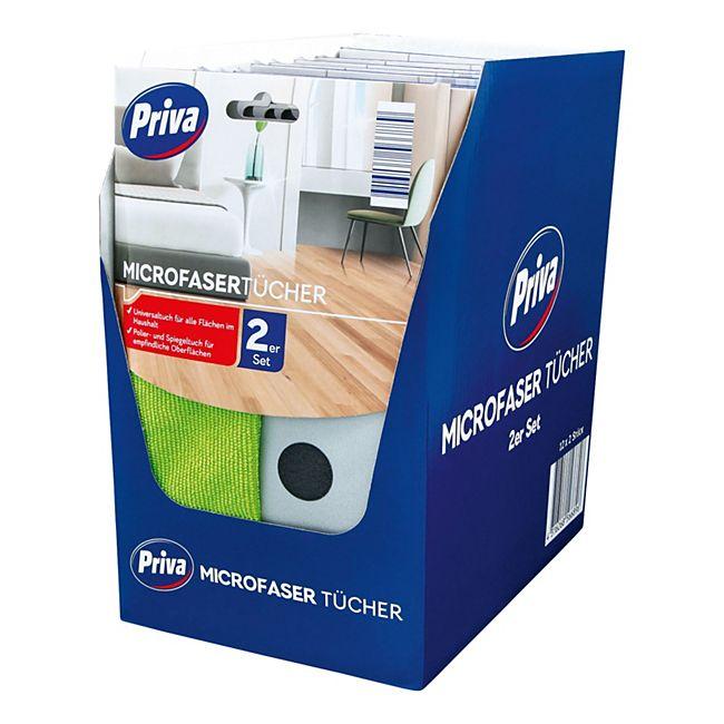 Priva Microfaser Tücher Set 2 Stück, 12er Pack - Bild 1