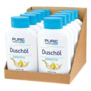 Pure & Basic med Duschöl Sensitiv 300 ml, 10er Pack - Bild 1