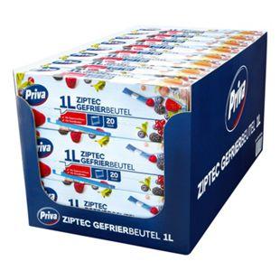 Priva Gefrierbeutel mit Ziptec 20 x 1 L, 24er Pack - Bild 1