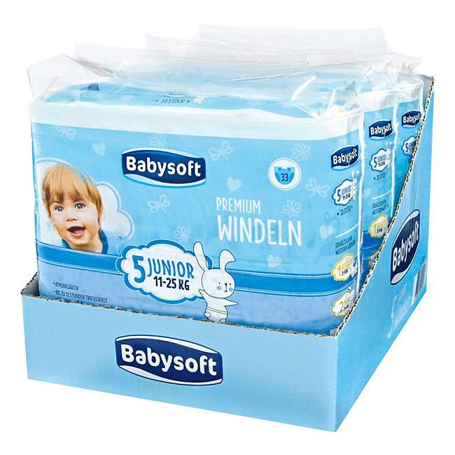Babysoft Windeln Gr. 5 Junior 33 Stück, 3er Pack - Bild 1