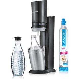 Sodastream® CRYSTAL 2.0, Titan mit einer Glaskaraffe - Bild 1