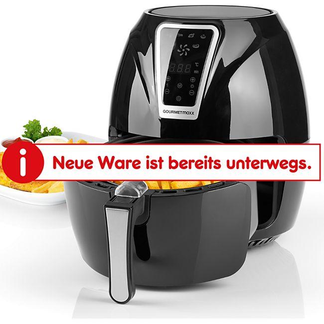 GOURMETmaxx Heißluft-Fritteuse Digital 3l 1300W schwarz/silber - Bild 1