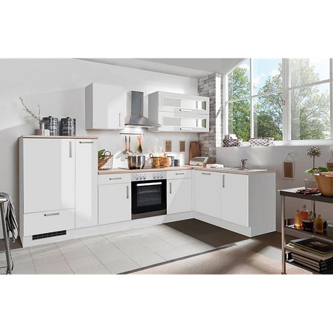 Menke Küchen Eckküche White Premium 310 x 170 cm, inkl. Geschirrspüler - Lack Weiß - Bild 1