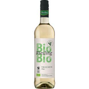 BioBio Riesling trocken Pfalz QbA 12,5 % vol 0,75 Liter - Bild 1
