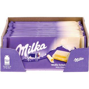 Milka Tafelschokolade Weiss 100 g, 22er Pack - Bild 1