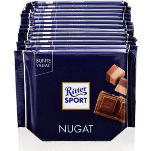 Ritter Sport Nugat Schokolade 100 g, 13er Pack - Bild 1