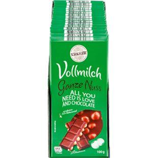 Schokoliebe Vollnuss Tafelschokolade 100 g, 15er Pack - Bild 1