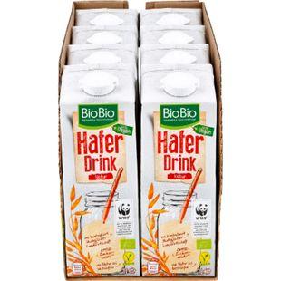 BioBio Haferdrink pur 1 Liter, 8er Pack - Bild 1