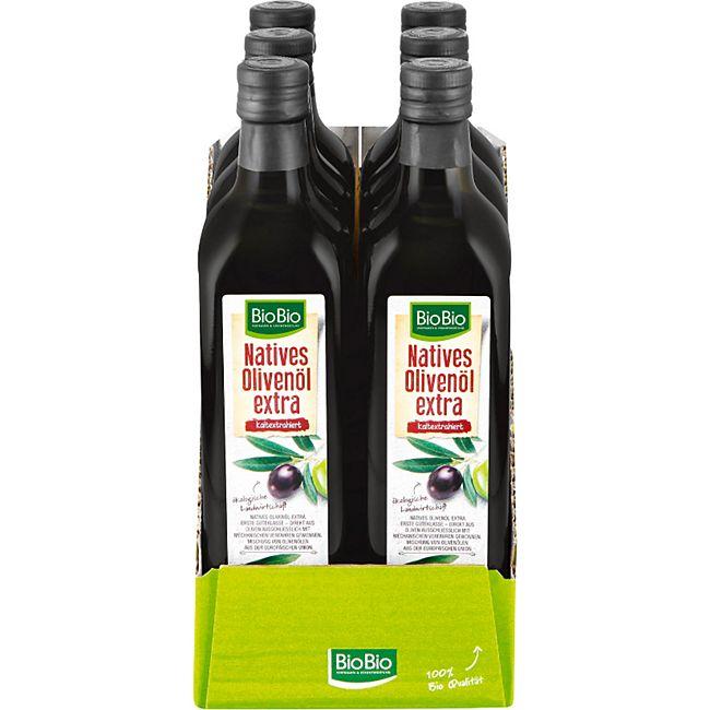BioBio Natives Olivenöl Extra 750 ml, 6er Pack - Bild 1