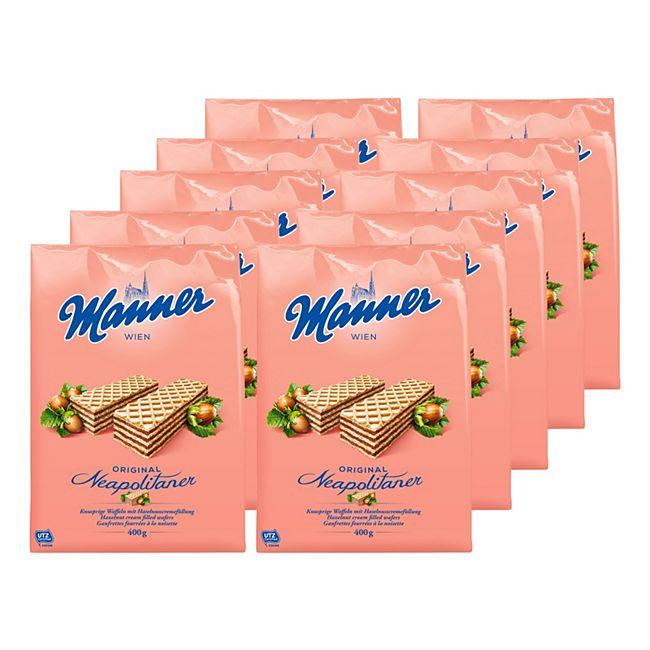 Manner Neapolitaner Schnitten 400 g, 10er Pack - Bild 1