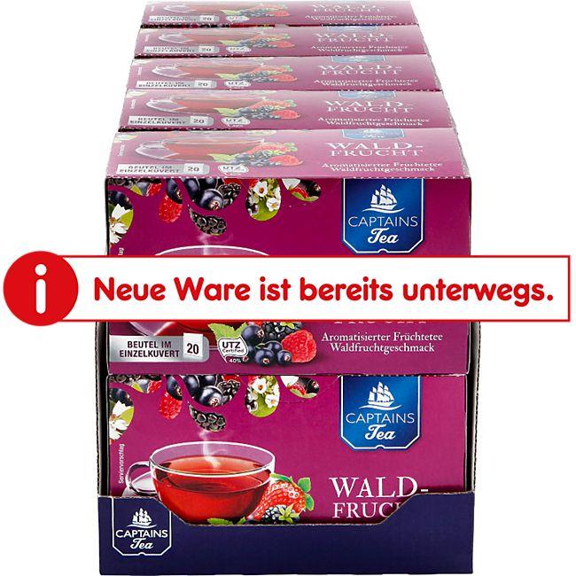 Captains Tea Früchtetee Waldfrucht 60 g, 10er Pack - Bild 1