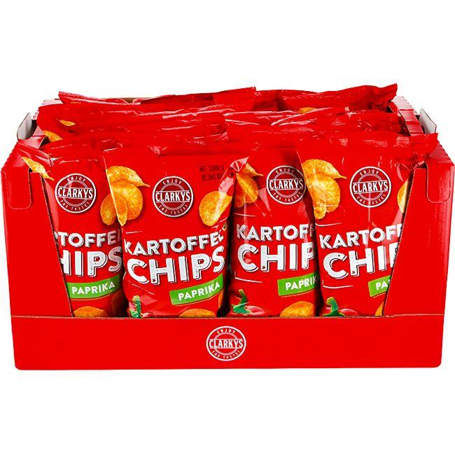 Clarkys Paprika Chips 200 g, 20er Pack - Bild 1
