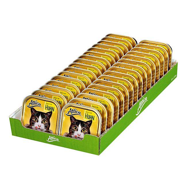 Attica Katzenfutter Pastete mit Huhn 100 g, 32er Pack - Bild 1