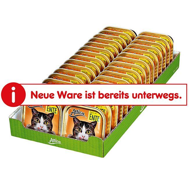 Attica Katzenfutter Pastete mit Ente 100 g, 32er Pack - Bild 1