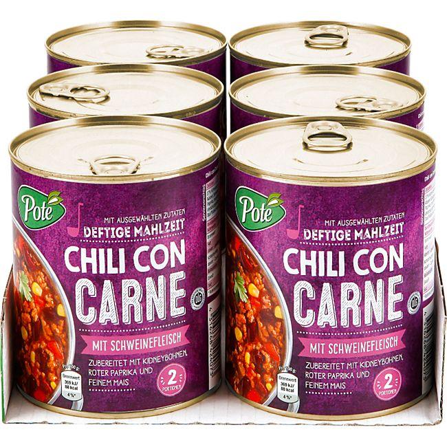 Pote Chili con Carne 800 g, 6er Pack - Bild 1